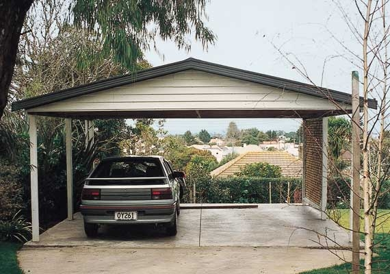 6m x 6m pitched roof carport.